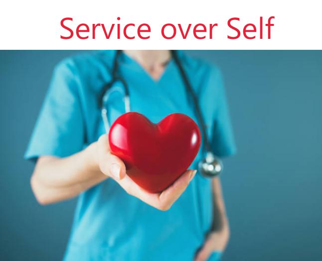 Service over Self